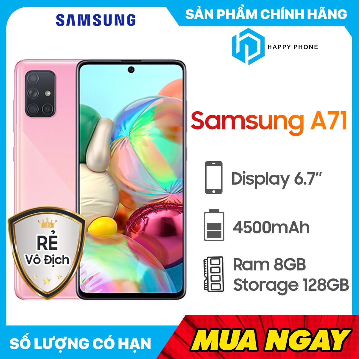 Giá Cực Sốc Khi Mua Điện Thoại Samsung Galaxy A71 ROM 128GB RAM 8GB - Hàng Chính Hãng, Nguyên Seal, Mới 100%, Bảo Hành 12 Tháng