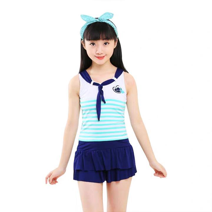 Giá bán Đồ bơi thủy thủ cá tính cho bé gái 4-10 tuổi – DB006