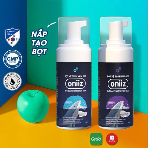 Bọt vệ sinh nam giới Oniiz - Dung dịch vệ sinh nam tạo bọt (Hương nước hoa) 100ml ( Công thức tạo bọt độc quyền) giá rẻ