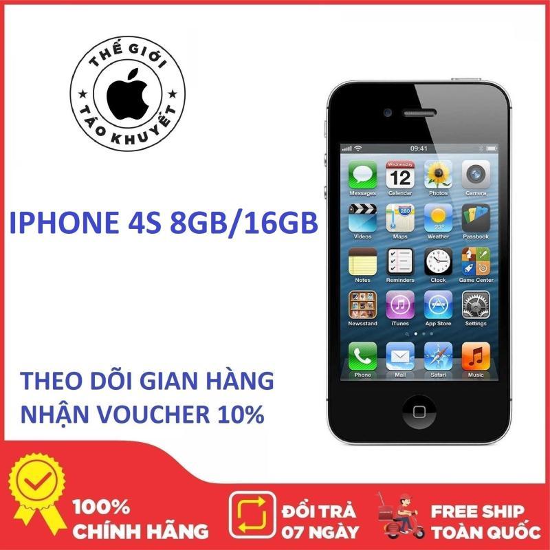 Điện thoại Apple IPHONE 4S - 16GB - 8GB - Bảo hành 12T - Giá rẻ - Thế Giới Táo Khuyết