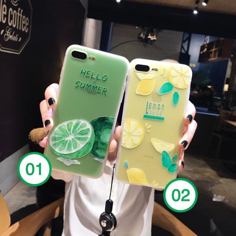 Giá Ốp 3D phong cách chanh iPhone 6 6s 6 plus 6s plus 7 7 plus 8 8 plus x xr xs xsmax đẹp sang trọng ( Ốp dẻo )