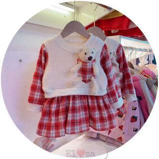 Váy bé gái 🐻🐻 Sét váy dạ gấu cực xinh - VBG-dạ-gấu