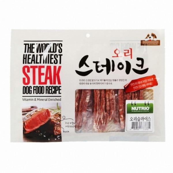 Snack thưởng cho chó thịt vịt nướng sấy Duck Steak Nutrio Hàn Quốc 300gr