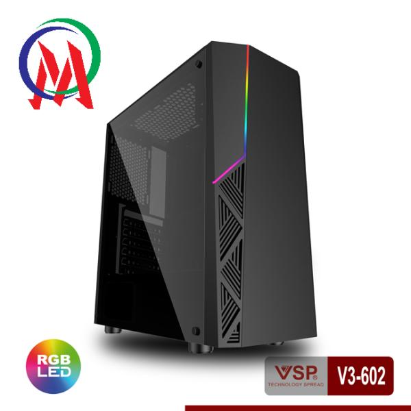 Bảng giá [HCM]Vỏ Case VSP V3-602 Có Sẵn LED RGB Và nắp hông Trong Suốt Phong Vũ