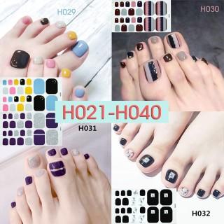 [Thu thập mã giảm thêm 30%] H021-040 nail wraps set dán móng chân 22 miếng nhiều mẫu cam kết hàng đúng mô tả chất lượng đảm bảo an toàn đến sức khỏe người sử dụng thumbnail