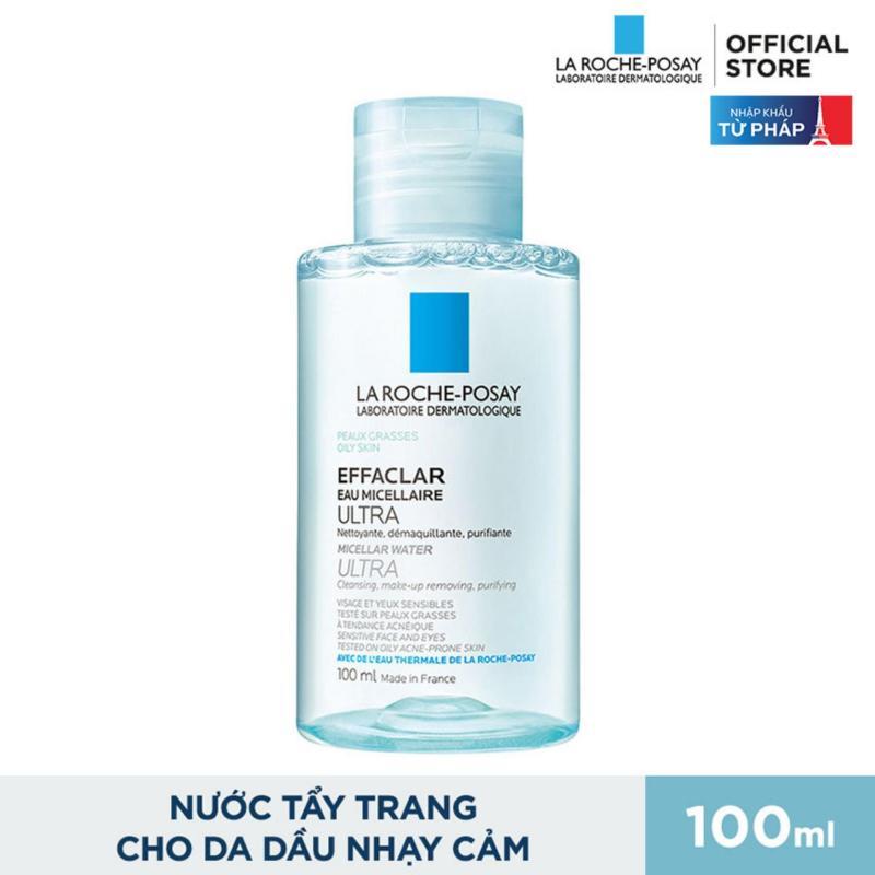 Nước tẩy trang làm sạch sâu và kiểm soát bã nhờn cho da dầu và da mụn La Roche Posay Effaclar Micellar Water 100ml