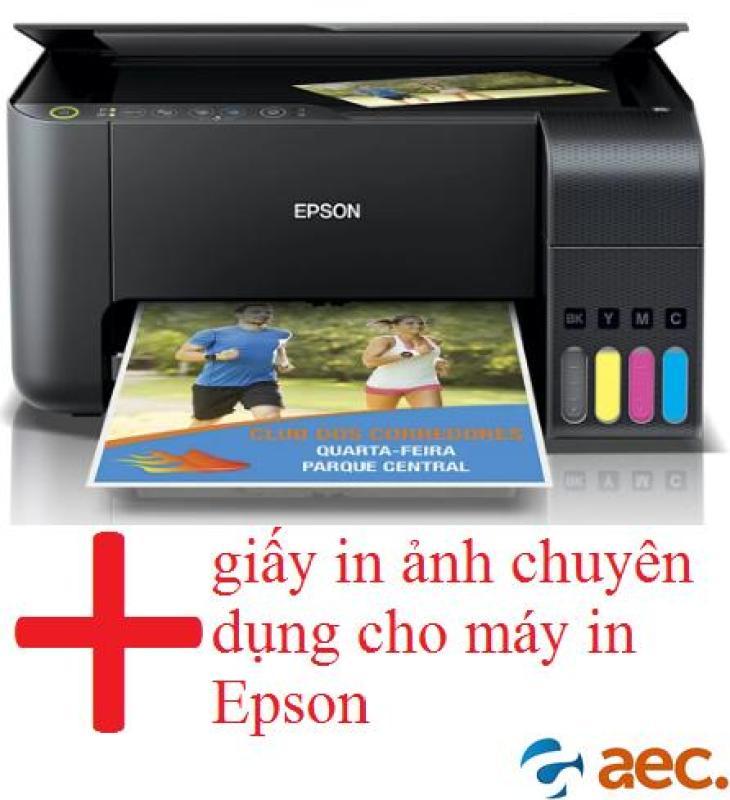 Máy in phun màu đa chức năng Epson L3150 ( In-Scan-Photo-Wifi ) sử dụng mực Hàn Quốc đã có kèm 4 bình mực Hàn Quốc +tặng 2 tập giấy in ảnh chuyên dụng cho máy in