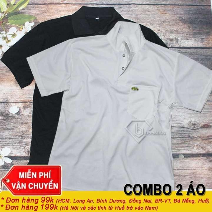 COMBO 2 Áo Thun Nam Cổ Trụ NamTrung Niên Bình Dân (2 Áo) - Màu Ngẫu nhiên - One Size từ (52-72)kg
