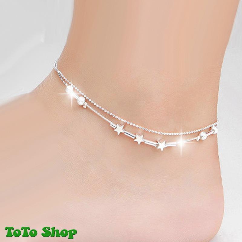 [HCM]Lắc chân kiểu dáng thời trang hai lớp mẫu bán chạy họa tiết ngôi sao phong cách Hàn Quốc BSTVT- [ToToShop]