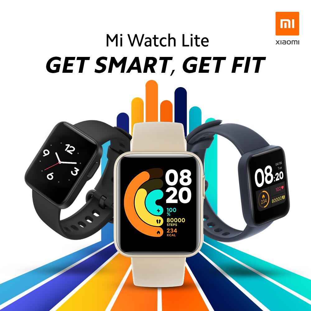 [BẢN QTE] Đồng hồ thông minh Xiaomi Mi Watch Lite- GPS Glonass Chống nước 5ATM Hỗ trợ 11 chế độ thể thao Pin bền 230mAh   CÔNG NGHỆ SỐ