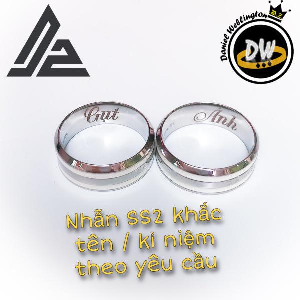 [Giá hủy diệt] Nhẫn DW v2 khắc tên theo yêu cầu - Nhẫn cặp đôi thời trang Titanium thép không gỉ 316L [Bảo Hành 1 năm]