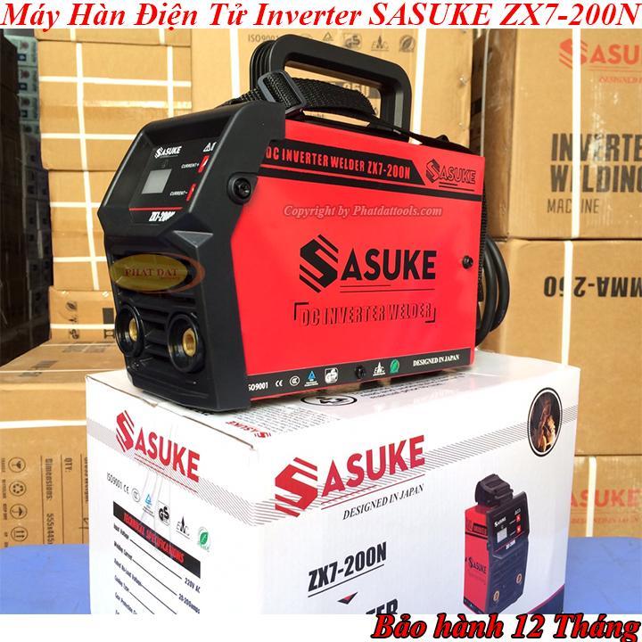 Máy hàn điện tử SASUKE ZX7 200N-Có đồng hồ hiển thị dòng hàn-Bảo hành 12 tháng-Máy hàn que mini