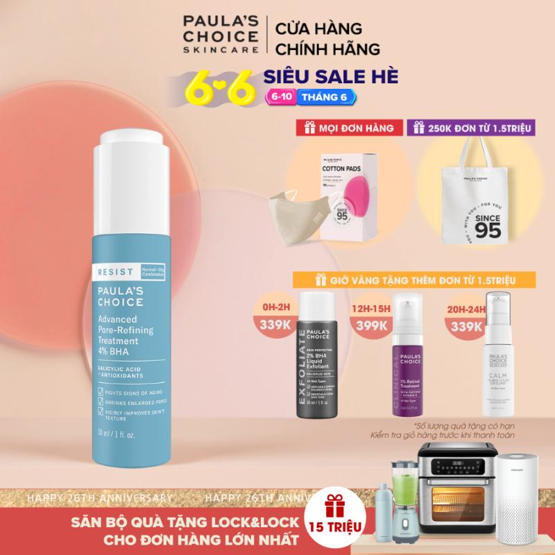 Lotion tái tạo và phục hồi da mụn Paula's Choice Resist Advanced Pore - Refining Treatment 4% BHA 7791 giá rẻ