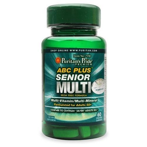 Vitamin tổng hợp cho người già, tăng cường miễn dịch, giảm nguy cơ mắc các loại virus, giúp khỏe mạnh, ăn tốt, ngủ ngon ABC Plus Senior multi-vitamins and multi-minerals của Puritans Pride nhập khẩu
