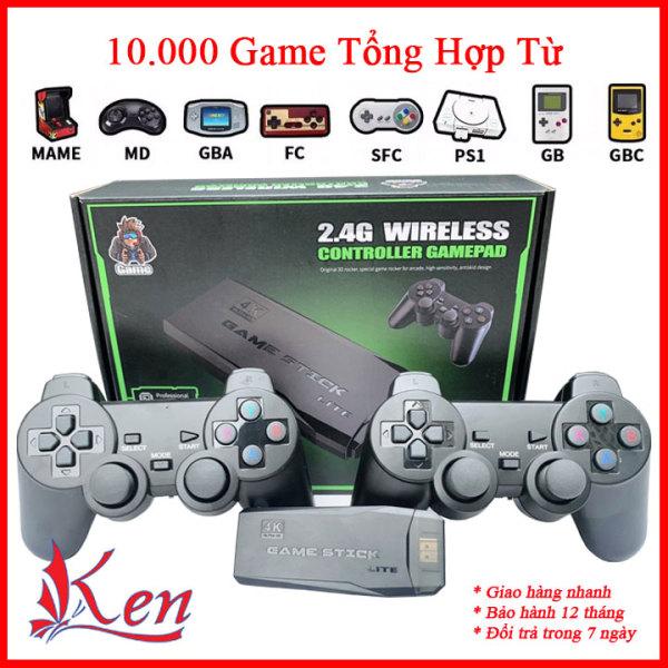 Game Stick 10.000 trò chơi điện tử, Máy chơi gamer hdmi tay cầm không dây, Máy chơi game trên tivi 4k