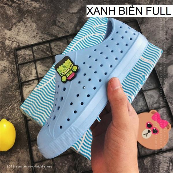 [Tặng 04 sticker] Giày nhựa trẻ em - Chất liệu nhựa EVA mềm, nhẹ, không thấm nước - Nhiều màu để lựa chọn
