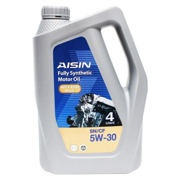 Nhớt động cơ AISIN ESEN0534P 5W-30 SN / CF PAO & ESTER Blend 4L