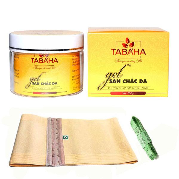 Gel tan mỡ bụng Tabaha 250g tặng Nịt Bụng và Thước dây cao cấp