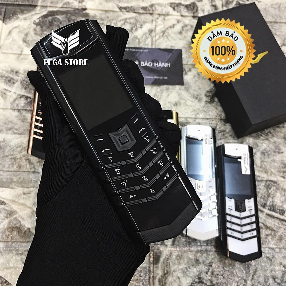 Điện thoại giá rẻ độc vertu K8 lưng đá cường lực 2 sim 2 sóng - Bảo hành miễn phí 12 tháng [Full box]