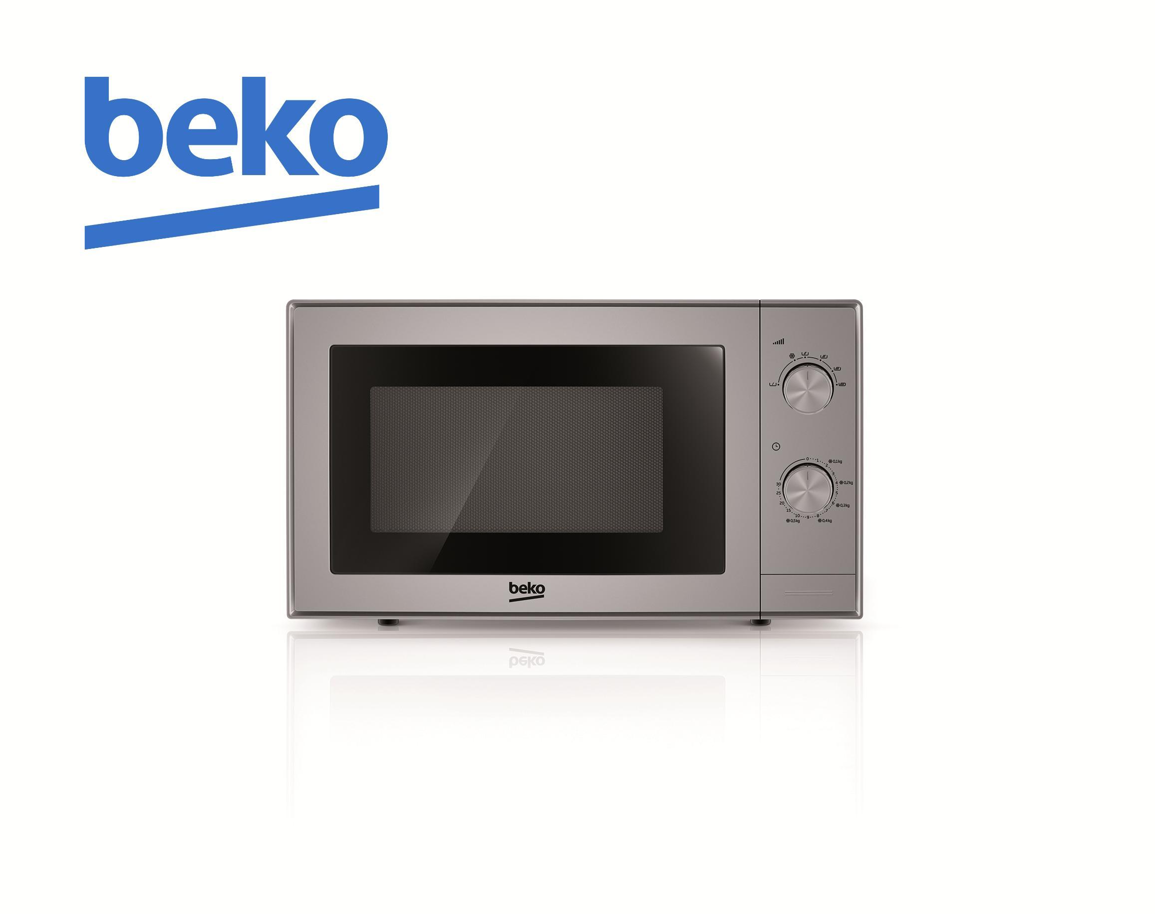 Lò vi sóng Beko MOC20100S (Màu Bạc) - Công suất 700W - Tiêu chuẩn Châu Âu - Bảo hành 12 tháng - Hàng chính hãng
