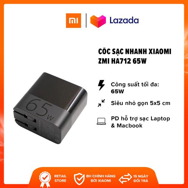 Giá [FREESHIP] Cốc sạc nhanh Xiaomi ZMI HA712 l Output PD Type-C 65W (Max) l Hỗ trợ sạc Laptop, Macbook, iPad l Đen l HÀNG CHÍNH HÃNG