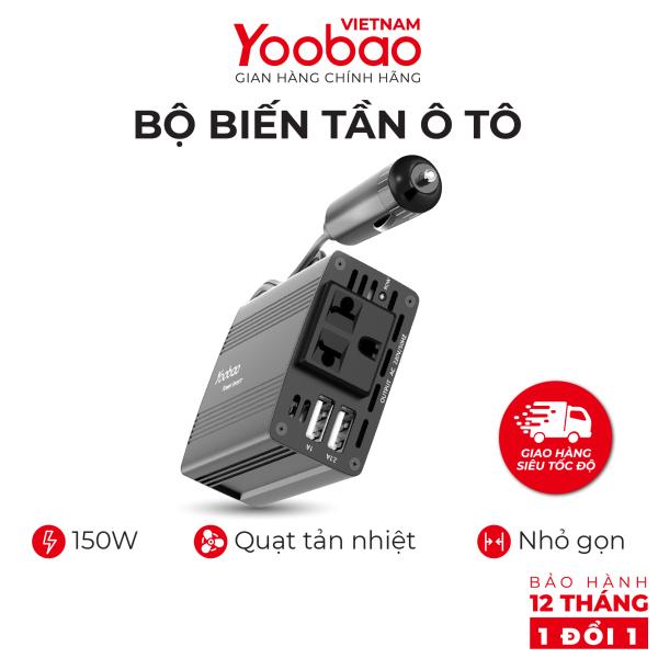 [Nhập ELJUN21-Giảm 10% tối đa 200k] Bộ biến tần ô tô Yoobao 150W hỗ trợ Đảo ngược 220V cho tất cả các xe ô tô đều tương thích - Hàng phân phối chính hãng - Bảo hành 12 tháng 1 đổi 1