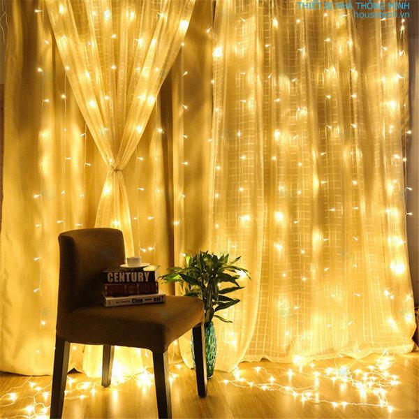 [Có ViDeo] Bộ đèn nháy thả rèm 10 sợi ngang 4m X dài 2m  -trang trí đám cưới, sinh nhật, sự kiện, lễ hội