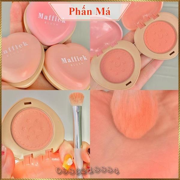 Phấn má hình trái tim MAFFICK Love Cookie Blush trang điểm má hồng MCB3