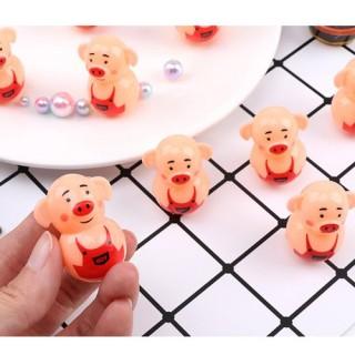 Bộ 2 Đồ chơi lật đật mini hình lợn con thumbnail