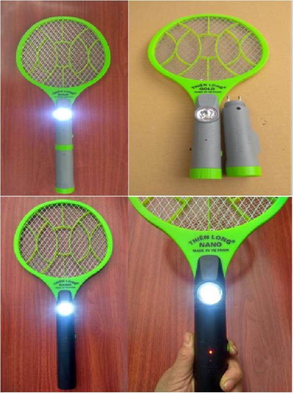 Vợt bắt muỗi cao cấp + đèn pin cao cấp + Bảo hành 1 năm (bộ 1 sản phẩm)