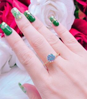 [HCM]Nhẫn nữ đẹp nhẫn mạ vàng thật nữ cao cấp đính đá pha lê lấp lánh xinh đẹp siêu rực rỡ tinh tế thời trang Trang sức Miga N081- Đeo đi tiệc cưới đi làm cực sang chảnh thumbnail