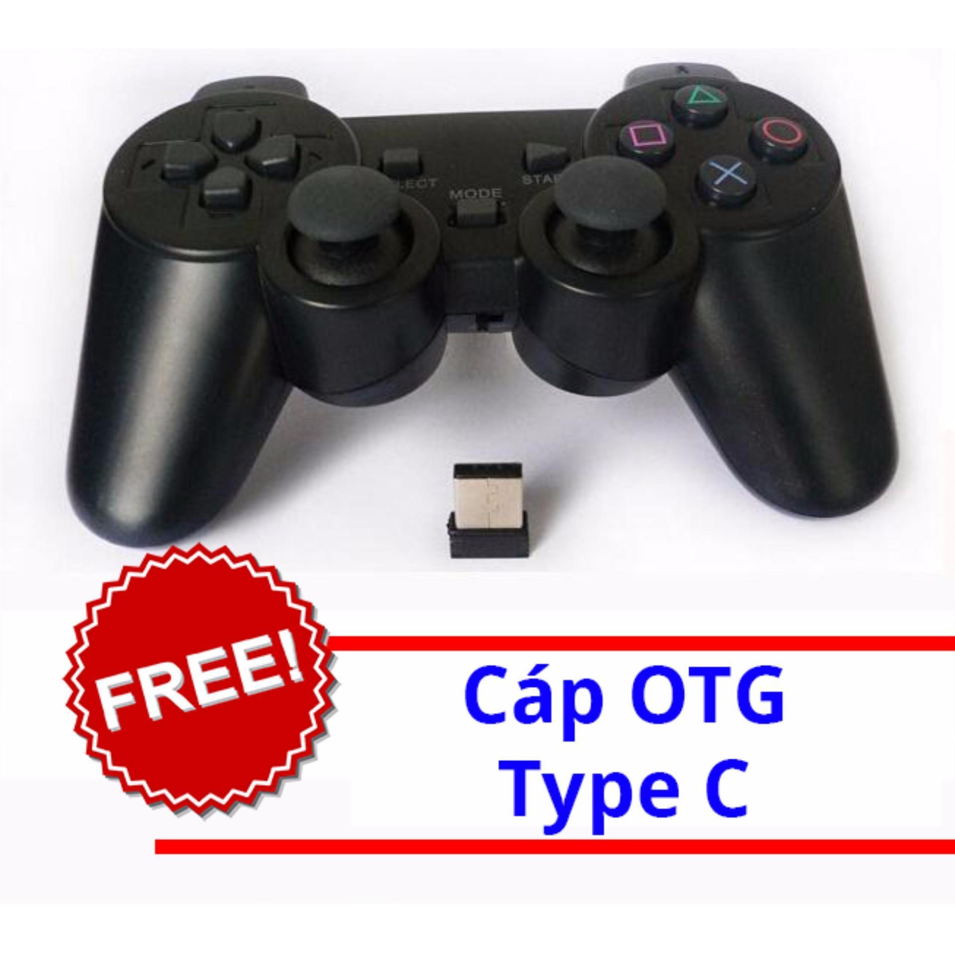 Gamepad không dây cho máy tính, android box + cáp otg type c Nhật Bản