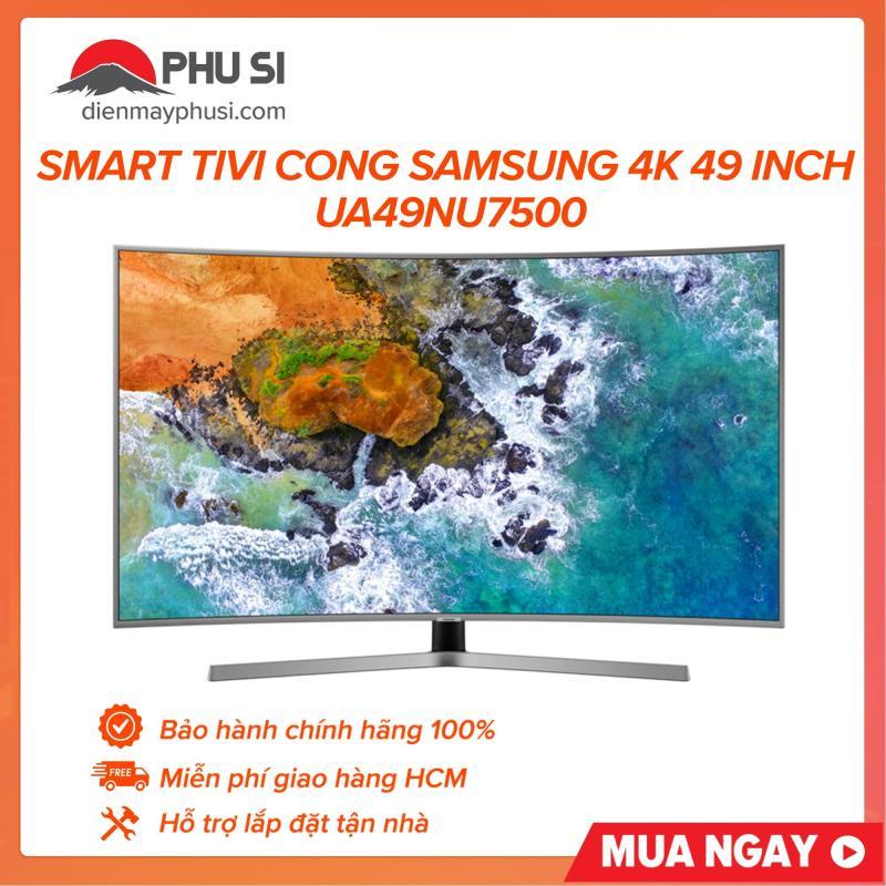 Smart tivi cong Samsung 4K 49 inch UA49NU7500, 100% chính hãng, hỗ trợ lắp đặt tận nhà, miễn phí giao hàng khu vực HCM chính hãng
