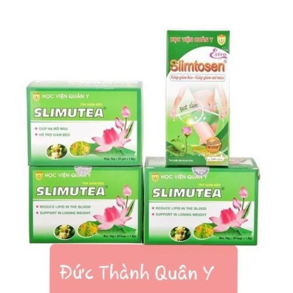 Bộ Giảm Cân 1 Slimtosen Extra + 3 Trà Slimutea Học Viện Quân Y giá rẻ