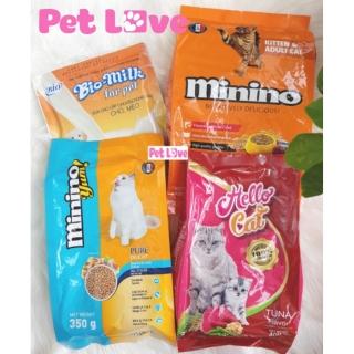COMBO sữa Bio Milk+ 3 gói thức ăn cho mèo (Minino, Yum, Hello Cat) thumbnail