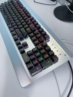 [CÓ VIDEO TEST] Bàn phím cơ Gaming ,Bàn phím cơ chuyên game ,Bàn phím cơ chuyên game Molon K850 ( mÀU Trắng ) Có 18 Chế độ,Bàn phím cơ game thủ có đèn Bàn phím cơ game thủ , ,các bàn phím cơ, Bàn phím máy tính, thumbnail