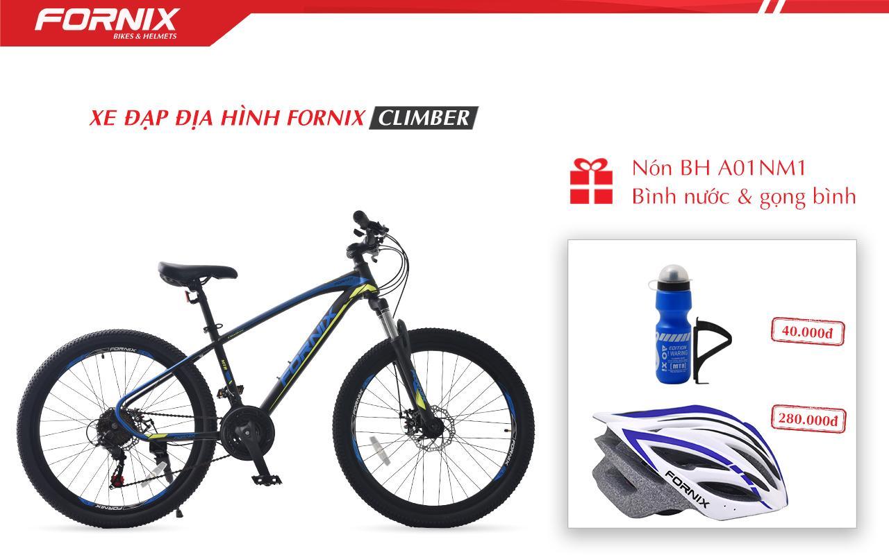 Mua Xe đạp địa hình Fornix Climber + Tặng Bình nước và gọng bình nước, Nón A01NM1L