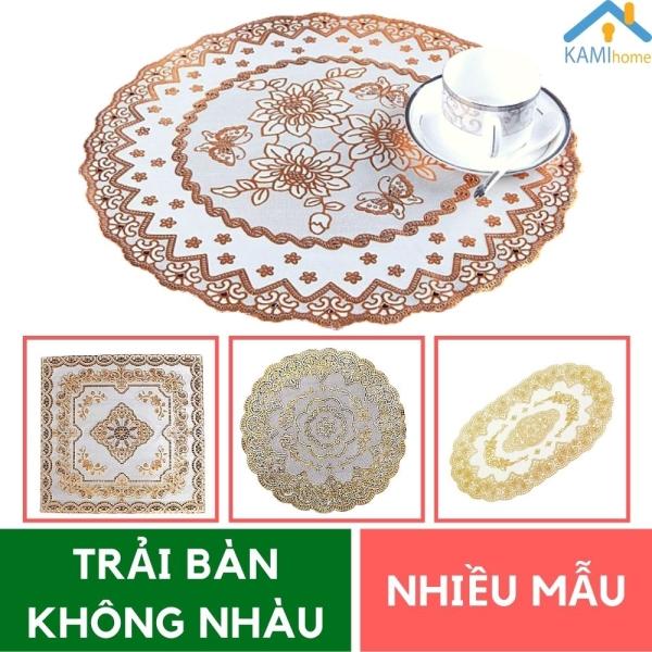 Khăn trải bàn nhiều mẫu họa tiết hoa văn sang trọng không nhăn chống nhàu chống bẩn chất liệu PVC