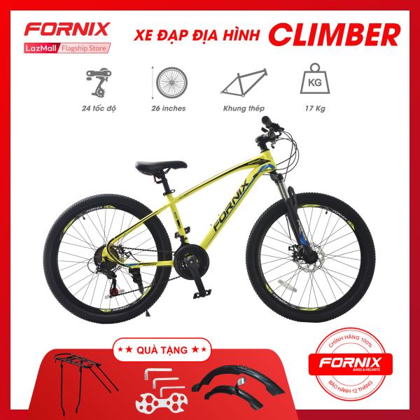 Mua Xe đạp địa hình Fornix Climber vòng bánh 26 inch (KÈM SÁCH HƯỚNG DẪN) -Bảo hành 12 tháng + Tặng (BAGA - Bộ dè trước sau -  Bộ dụng cụ lắp ráp)
