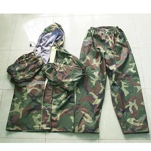 Bộ Quần áo đi mưa hình lính vải dù siêu bền siêu tốt