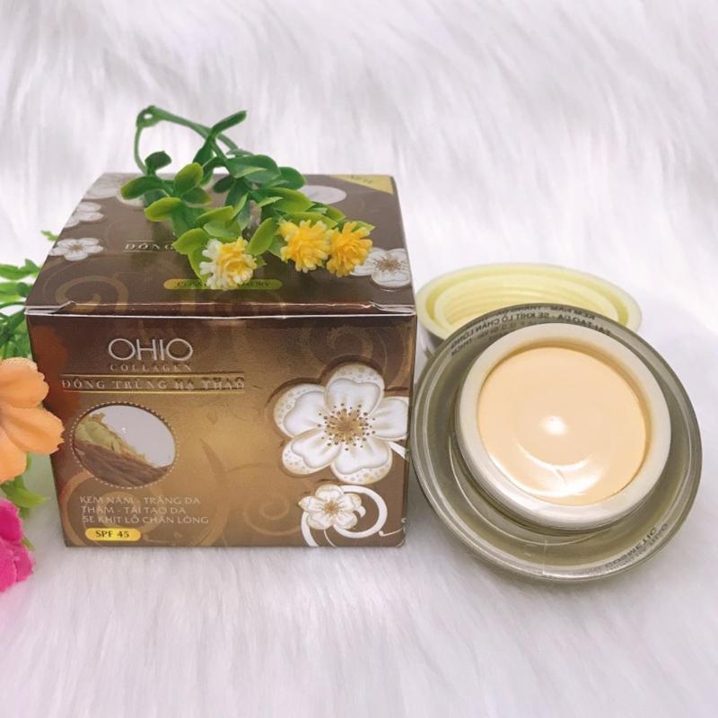 Kem Nám - Trắng Da - Thâm - Tái Tạo - Se Khít Lỗ Chân Lông OHIO Collagen (Đông Trùng Hạ Thảo 20g) giá rẻ