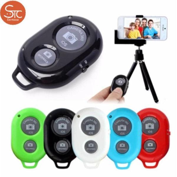 Remote chụp hình Bluetooth Kèm PIN 3V (Đen) - Sản phẩm kết nối với điện thoại bằng Bluetooth, điều khiển chụp ảnh điện thoại từ xa trong khoảng cách 10m