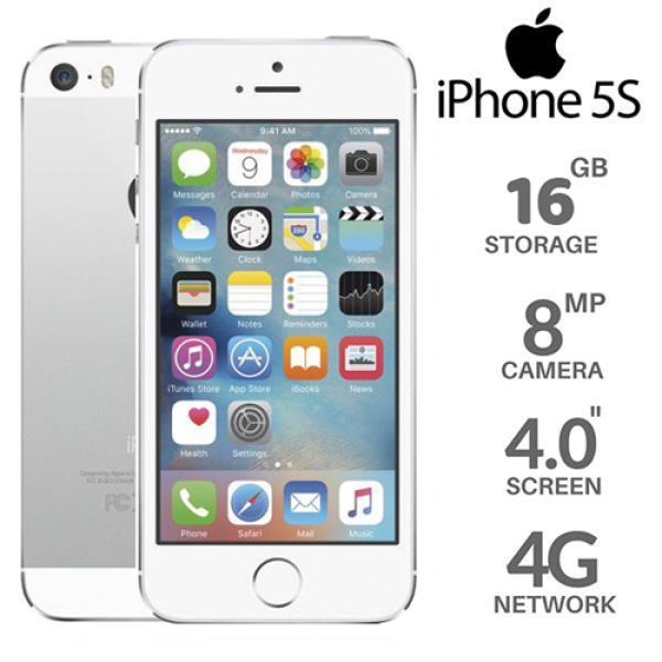 Điện thoại 5S 16GB giá rẻ Full phụ kiện (cóc + sạc + tai nghe)