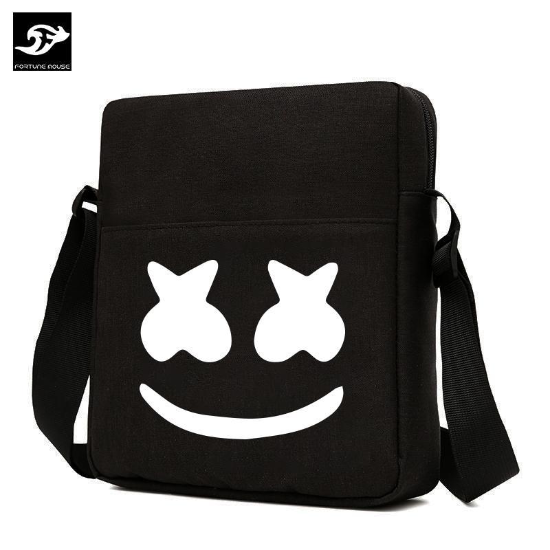 Túi đeo chéo vải bố xước đựng ipad Marshmello Fortune Mouse PR2004