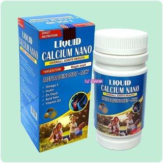 Viên uống bổ sung canxi LIQUID CALCIUM NANO - BỔ SUNG Canxi LIQUID giúp phòng chống còi xương, tăng cường phát triển hệ xương thumbnail