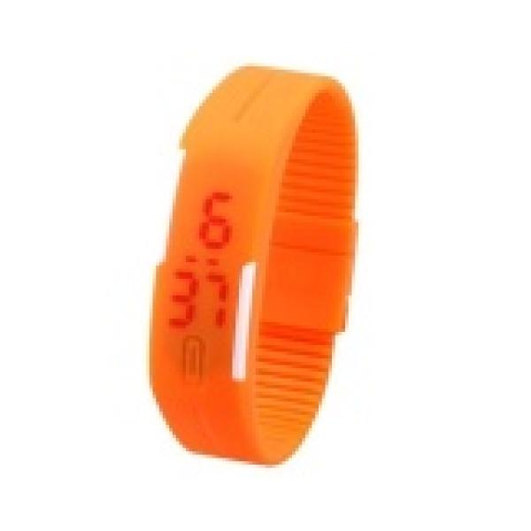 Nơi bán Đồng hồ dây nhựa dẻo Sport LED màu ngẫu nhiên Cao cấp hơn Đồng hồ điện tử Unisex đa sắc màu dây cao su chống nước Đồng hồ đèn led thể thao