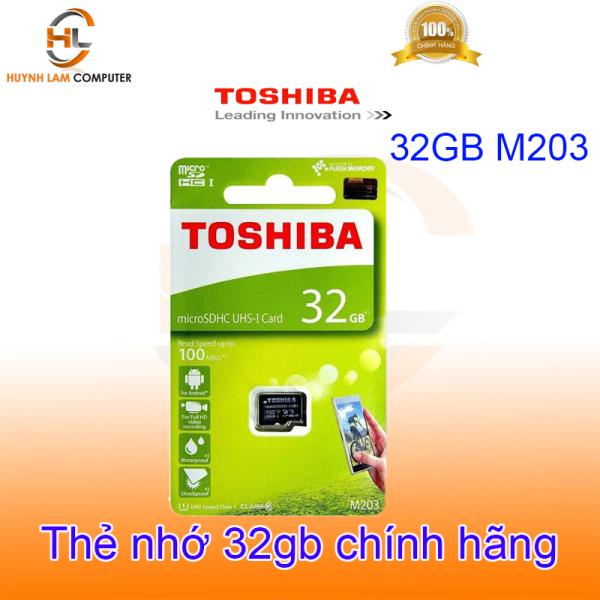 Thẻ nhớ 32GB Toshiba M203 microSDHC UHS-i 100MB/s - hãng phân phối, dung lượng mở rộng lên đến 32GB, tốc độ xử lý nhanh chóng, tương thích hầu hết các thiết bị