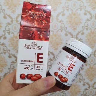 Vitamin E Đỏ Nga Mirrolla 400mg Hộp 30 Viên Giúp Trẻ Đẹp Da, Chống Lão Hóa thumbnail