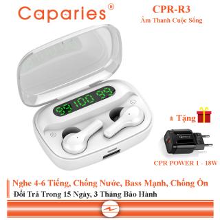 Tai Nghe Bluetooth 5.0 CAPARIES R3 LED - (Tai Nghe Không Dây) Chống Nước - Chống ồn - Tích Hợp Micro - Tự Động Kết Nối - Nhỏ gọn - Âm Thanh 8.0 HD - Tương Thích Cao Cho Tất Cả Điện Thoại CHÍNH HÃNG thumbnail