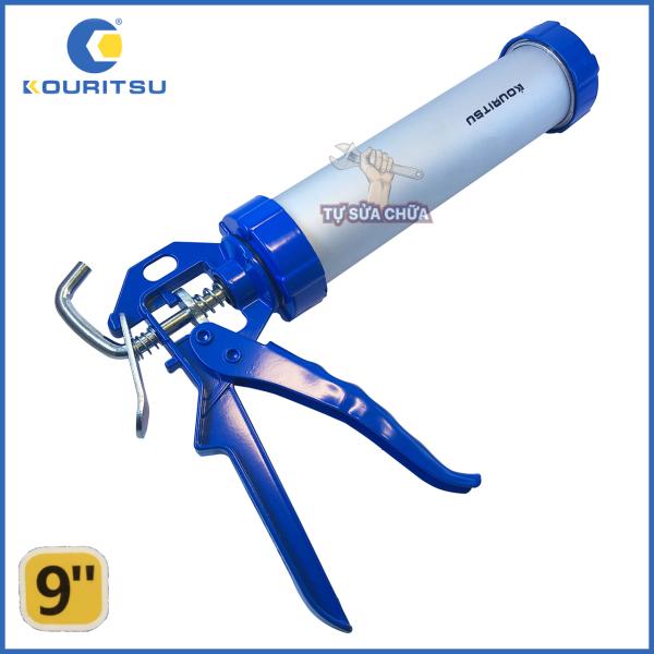 Dụng cụ bắn keo silicon Kouritsu SN-T14001 - Bơm silicon vỏ nhôm 9 inch